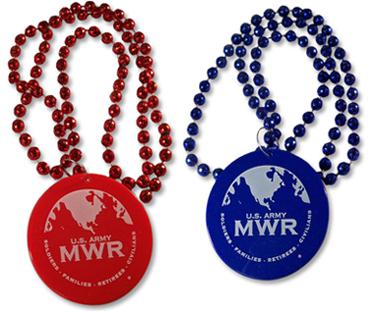 1-Color imprint Mardi Gras Beads