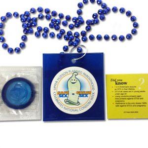 Custom Health Awareness Mardi Gras Beads