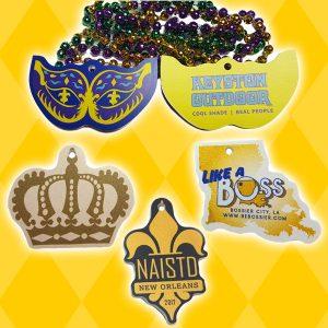 Custom Shape Mardi Gras Beads